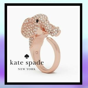 NWT KATE SPADE 14k Haute Stuff Elephant Ring
